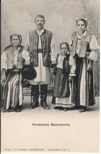 familie-de-tarani-din-zona-herculane-1900-1905
